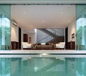 interior courtyard garden home modern house designs With interior design bedroom with pool