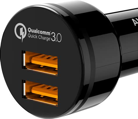 Lade T8 by Aukey Dual Usb Turbo Car Charger Cc T8 Qc3 0 Billader Med