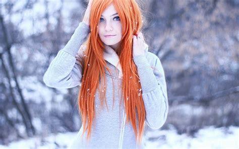 lovely redhead girl wallpapers desktop background