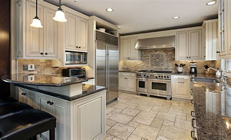 kitchens with antique white cabinets antique white kitchen cabinets design photos designing 8779