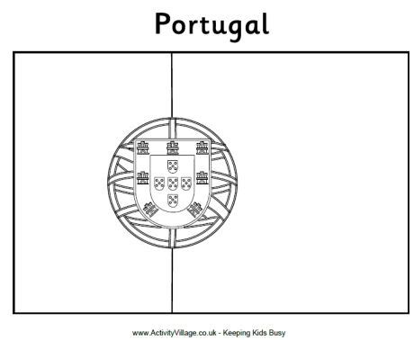 portugal flag free colouring pages