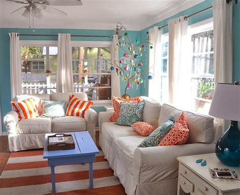 Aqua Colored Home Decor: Turquoise And Orange Decor