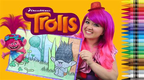 coloring branch trolls giant coloring book page crayola