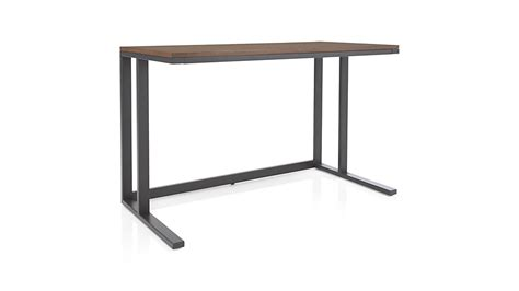 crate and barrel pilsen paprika desk pilsen graphite desk with walnut top crate and barrel