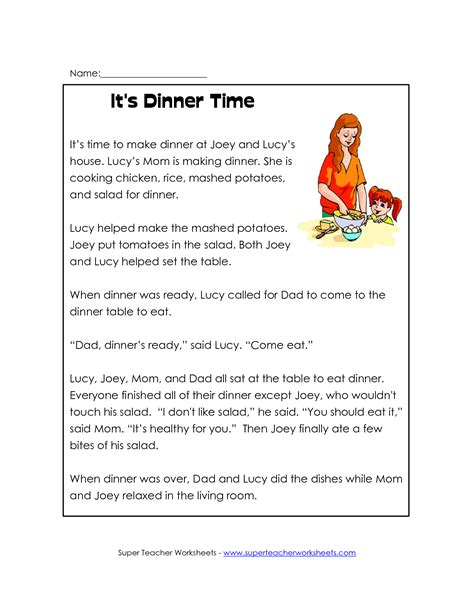 reading comprehension worksheets 4th grade common and