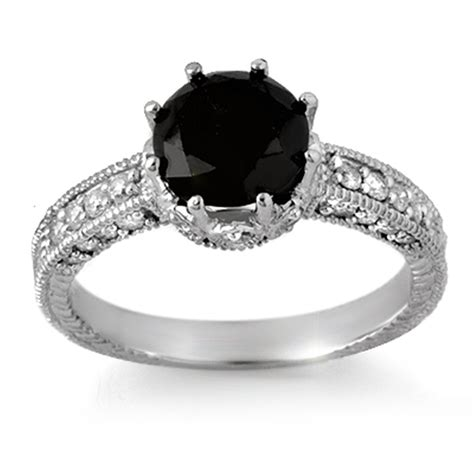 The Sensuous Black Diamond Rings