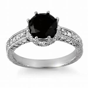 The sensuous black diamond rings for Black wedding rings with diamonds