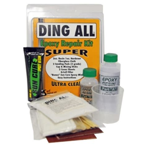 Epoxy Kit by Ding All Epoxy Repair Kit Cleanline Surf