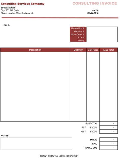 consulting templates consultant bill format in excel studio design gallery best design
