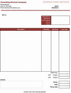consultant bill format in excel joy studio design With consultancy invoice format