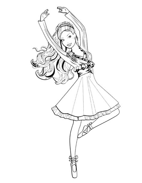 Kleurplaat Ballerina by Get This Beautiful Ballerina Coloring Pages 22753