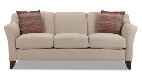 craftmaster sofa in emotion beige craftmaster 7844 stationary sofa with flared arms