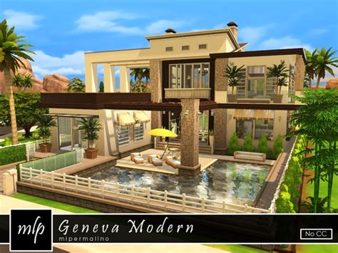 House Design Software Like Sims by Geneva Modern House By Mlpermalino At Tsr 187 Sims 4 Updates
