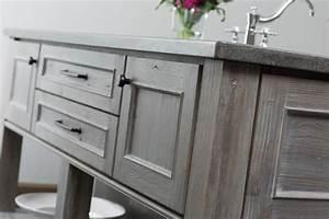 Weathered Wood Kitchen Island - Rustic - Kitchen - San