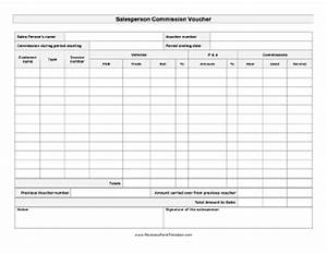 salesperson commission voucher template With commission payout template