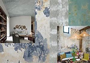 Peinture Effet Patiné : murs effet patin l 39 ancienne tendance les murs us s ~ Melissatoandfro.com Idées de Décoration