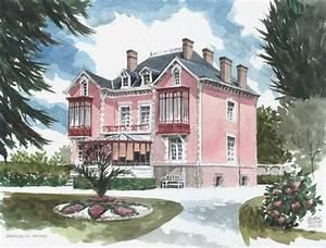 Maison Christian Dior : aquarelle sylvain allaire granville les rhums la maison ~ Zukunftsfamilie.com Idées de Décoration
