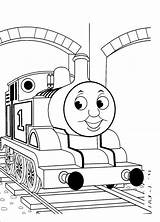 Thomas Coloring Train Pages Tank Engine Printable Sheets Simple Number sketch template