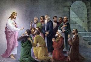 Christ appears to Disciples | Jesus spoke with His ...