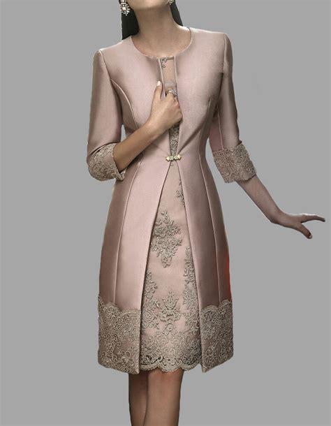 custom mother   bride dress  long coat knee