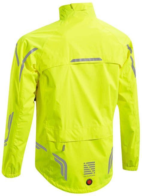 yellow cycling jacket altura night vision mens waterproof cycling jacket hi vis