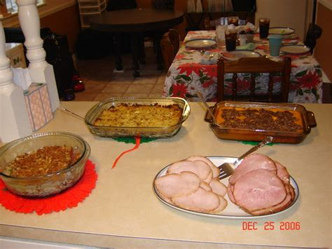 Sure, southern foods aren't necessarily a traditional part of christmas dinner. Traditional Christmas dinner | Modified Southern Christmas t… | Flickr
