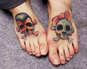Girly Sugar Skull Design 50 Outstanding Skull Tattoos On Foot