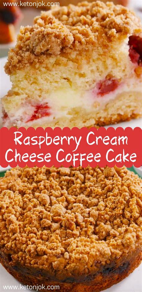 Cream together the cream cheese, sugar, and egg for the cream cheese filling. Raspberry Cream Cheese Coffee Cake - Joki's Kitchen