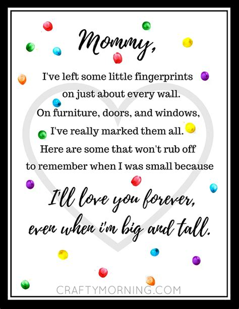 mothers day printables poems crafty morning