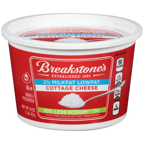 cottage cheese brands breakstone s small curd low sodium cottage cheese 16 oz