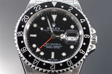 Rolex Black Face Stainless GMT Master II Watch Watch - Men ...