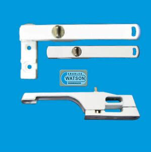 white inline locking window handle casement lock fastener upvc thumbturn keyless ebay