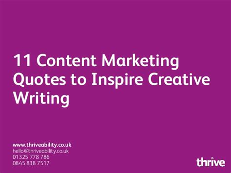 content marketing quotes  inspire creative writing