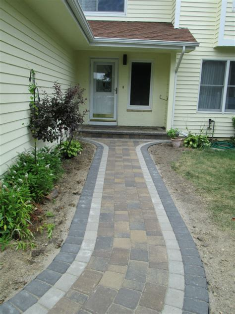 sidewalk paver designs paver walkways devine design hardscapes