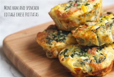 cottage cheese frittata mini ham and spinach cottage cheese frittatas