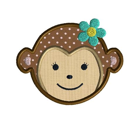 monkey applique monkey applique design