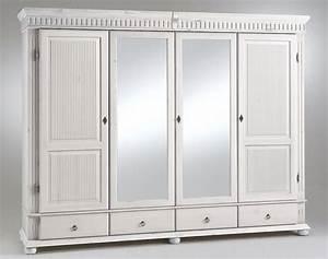 Kleiderschrank 2 Türig Mit Spiegel : kleiderschrank 4 t rig wei mit spiegel kiefer massiv poarta ~ Bigdaddyawards.com Haus und Dekorationen