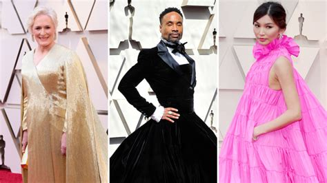 Oscars Pink Pants Capes Stand Out Starry Red