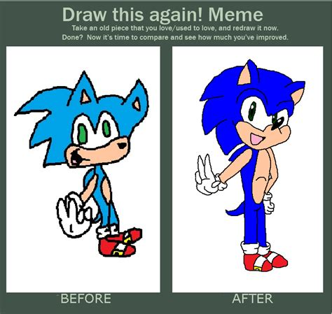 Sonic Meme - draw this again meme sonic by sonicfazbear15 on deviantart