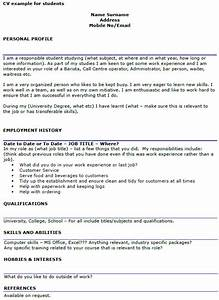 Curriculum Vitae Lay Out Student Cv Example Template Icover Org Uk