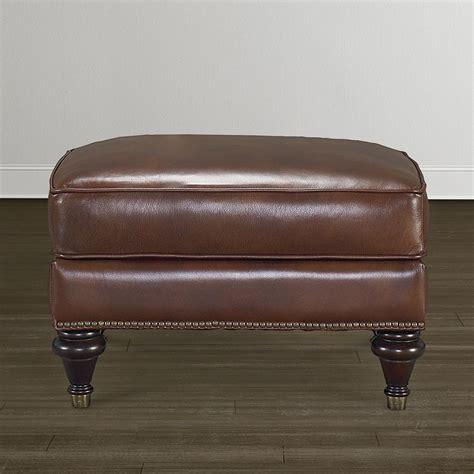 oxford leather ottoman bassett furniture