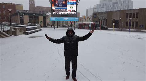 mavic mini   canadian blizzard   mavic mini handle snow youtube