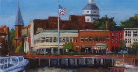 Annapolis Boat Canvas by Quot Ego Alley Quot Annapolis City Dock Md Chris Weir Paintings