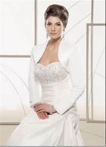 New white satin wedding bridal bolero jacket wrap long for Wedding dress bolero jacket