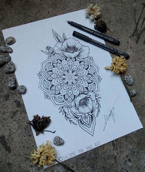 mandala flower tattoos ideas  pinterest lotus