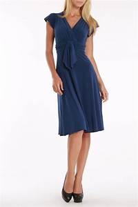 V-Neck Steel Blue Dress   fashion   Pinterest