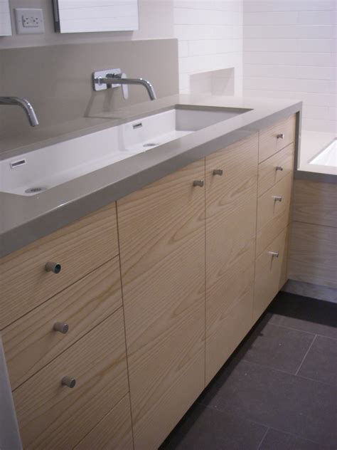 trough sink vanity with two faucets magnificent trough sink in bathroom contemporary with