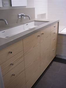 Magnificent trough sink in bathroom contemporary with for Wall mount bathroom vanity with trough sink