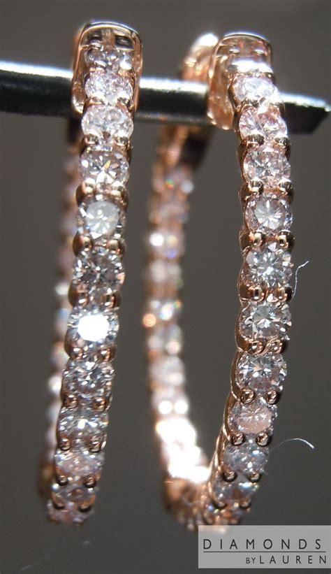 pink diamond earrings diamond hoop earrings diamond