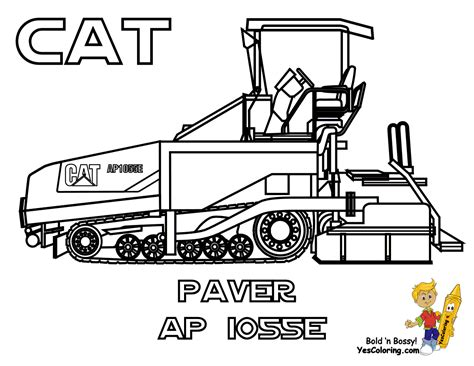 Caterpillar Equipment Coloring Pages